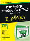 PHP, MySQL, JavaScript & HTML5 All-in-One For Dummies (eBook)