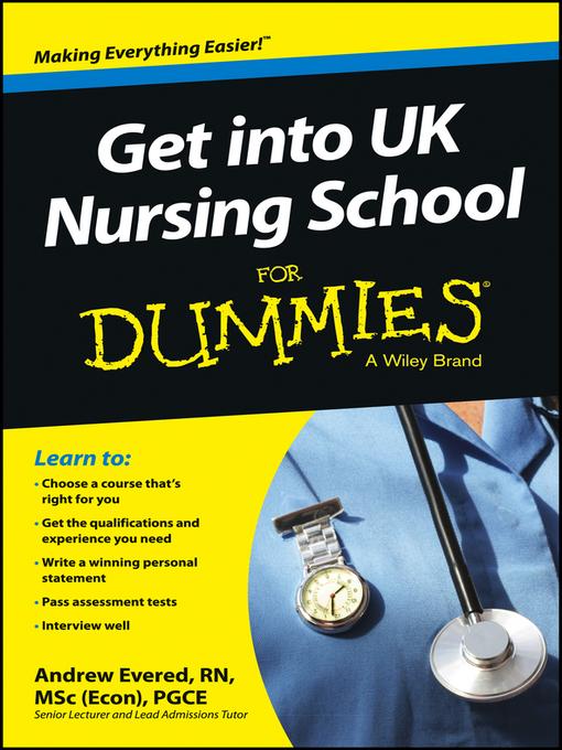 Get into UK Nursing School For Dummies (eBook)