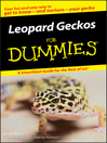 Leopard Geckos For Dummies (eBook)