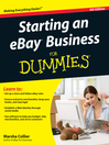 Starting an eBay Business For Dummies (eBook)