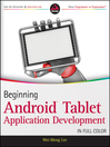 Beginning Android Tablet Application Development (eBook)