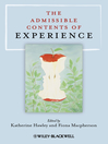 The Admissible Contents of Experience (eBook)