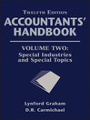Accountants' Handbook, Special Industries and Special Topics (eBook)