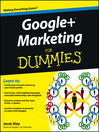 Google+ Marketing For Dummies (eBook)
