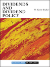 Dividends and Dividend Policy (eBook)