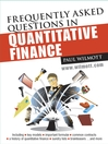 Frequently Asked Questions in Quantitative Finance (eBook)