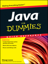 Java For Dummies Quick Reference (eBook)
