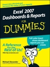 Excel 2007 Dashboards & Reports For Dummies (eBook)