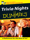 Trivia Nights For Dummies (eBook)