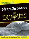 Sleep Disorders For Dummies (eBook)
