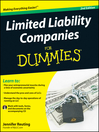 Limited Liability Companies For Dummies (eBook)