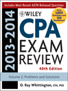Wiley CPA Examination Review 2013-2014, Problems and Solutions (eBook)