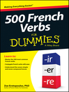 500 French Verbs For Dummies (eBook)
