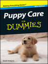 Puppy Care For Dummies (eBook)