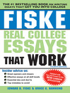 Fiske Real College Essays That Work (eBook)