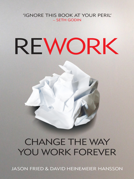 ReWork (eBook): Change the Way You Work Forever