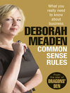 Common Sense Rules (eBook): What you really need to know about business