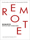 Remote (eBook): Office Not Required