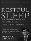 Restful Sleep (eBook): The Complete Mind/Body Programme for Overcoming Insomnia