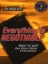 Everything Is Negotiable (eBook)