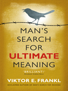 Man's Search for Ultimate Meaning (eBook)