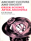 Greek Science After Aristotle (eBook)