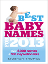 Best Baby Names for 2013 (eBook)