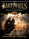 The Ring of Solomon (eBook): Bartimaeus Series, Book 4