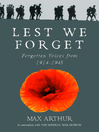 Lest We Forget (eBook): Forgotten Voices from 1914-1945