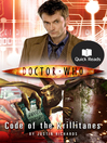 Code of the Krillitanes: Quick Reads Edition (eBook): Doctor Who Series, Book 3