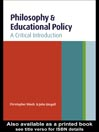 Philosophy and Educational Policy eBook