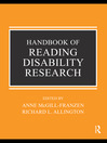 Handbook of Reading Disability Research (eBook)