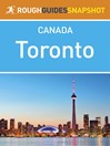Toronto Rough Guides Snapshot Canada (eBook)