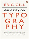 An Essay on Typography (eBook)