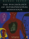 The Psychology of Interpersonal Behaviour (eBook)