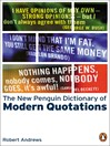 The New Penguin Dictionary of Modern Quotations (eBook)