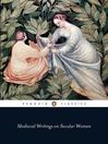 Medieval Writings on Secular Women (eBook)