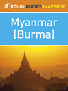 Rough Guide Snapshot Myanmar (Burma) (eBook)
