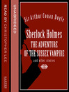 Sherlock Holmes (MP3): the Adventure of the Sussex Vampire and Other Stories
