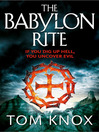 The Babylon Rite (eBook)
