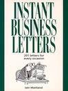 Instant Business Letters (eBook)