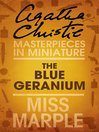 The Blue Geranium (eBook): A Miss Marple Short Story
