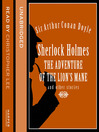 Sherlock Holmes (MP3): The Adventure of the Lion's Mane and Other Stories