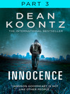 Innocence, Part 3, Chapters 43 to 58 (eBook)