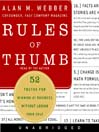 Rules of Thumb (MP3): 52 Truths for Winning at Business Without Losing Your Self