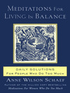 Meditations for Living In Balance (eBook): Daily Solutions for People Who Do Too Much