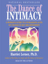 The Dance of Intimacy (MP3): A Women's Guide to Courageous Acts of Change In Key Relationships