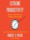 Extreme Productivity (MP3)