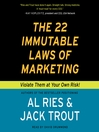 The 22 Immutable Laws of Marketing (MP3)