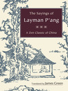 The Sayings of Layman P'ang (eBook): A Zen Classic of China